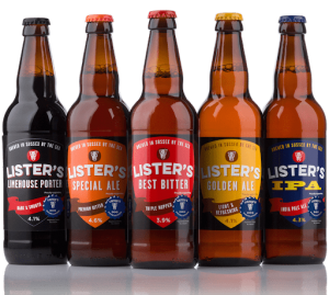 Lister's Brewery bottles